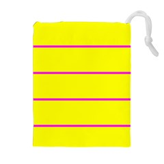 Background Image Horizontal Lines And Stripes Seamless Tileable Magenta Yellow Drawstring Pouches (extra Large)