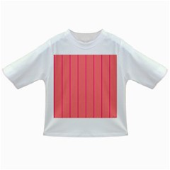 Background Image Vertical Lines And Stripes Seamless Tileable Deep Pink Salmon Infant/toddler T Shirts
