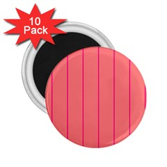 Background Image Vertical Lines And Stripes Seamless Tileable Deep Pink Salmon 2 25  Magnets (10 Pack)