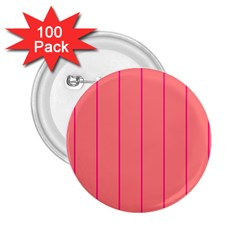 Background Image Vertical Lines And Stripes Seamless Tileable Deep Pink Salmon 2 25  Buttons (100 Pack)