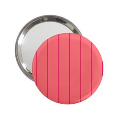 Background Image Vertical Lines And Stripes Seamless Tileable Deep Pink Salmon 2 25  Handbag Mirrors