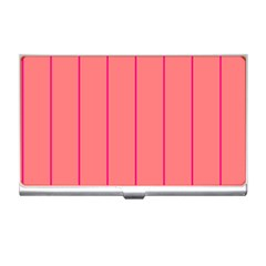 Background Image Vertical Lines And Stripes Seamless Tileable Deep Pink Salmon Business Card Holders