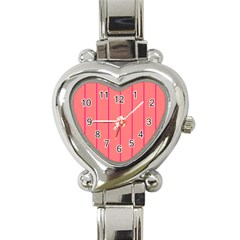Background Image Vertical Lines And Stripes Seamless Tileable Deep Pink Salmon Heart Italian Charm Watch