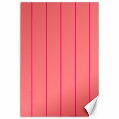 Background Image Vertical Lines And Stripes Seamless Tileable Deep Pink Salmon Canvas 12  X 18