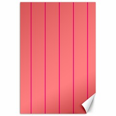 Background Image Vertical Lines And Stripes Seamless Tileable Deep Pink Salmon Canvas 20  X 30