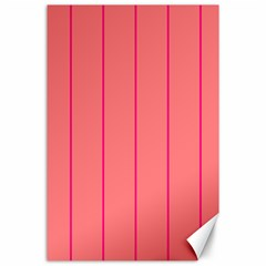 Background Image Vertical Lines And Stripes Seamless Tileable Deep Pink Salmon Canvas 24  X 36