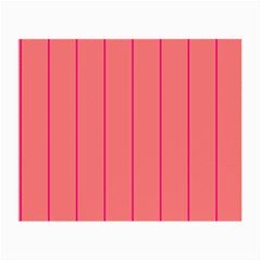 Background Image Vertical Lines And Stripes Seamless Tileable Deep Pink Salmon Small Glasses Cloth (2 Side)