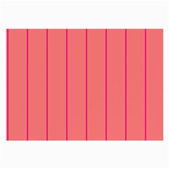 Background Image Vertical Lines And Stripes Seamless Tileable Deep Pink Salmon Large Glasses Cloth (2 Side)