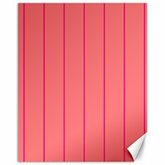 Background Image Vertical Lines And Stripes Seamless Tileable Deep Pink Salmon Canvas 11  X 14