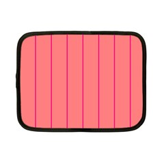 Background Image Vertical Lines And Stripes Seamless Tileable Deep Pink Salmon Netbook Case (small)