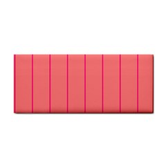 Background Image Vertical Lines And Stripes Seamless Tileable Deep Pink Salmon Cosmetic Storage Cases