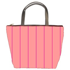 Background Image Vertical Lines And Stripes Seamless Tileable Deep Pink Salmon Bucket Bags