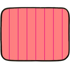 Background Image Vertical Lines And Stripes Seamless Tileable Deep Pink Salmon Double Sided Fleece Blanket (mini)