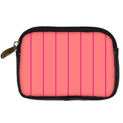 Background Image Vertical Lines And Stripes Seamless Tileable Deep Pink Salmon Digital Camera Cases