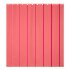 Background Image Vertical Lines And Stripes Seamless Tileable Deep Pink Salmon Shower Curtain 66  X 72  (large)