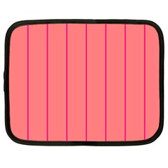 Background Image Vertical Lines And Stripes Seamless Tileable Deep Pink Salmon Netbook Case (xxl)