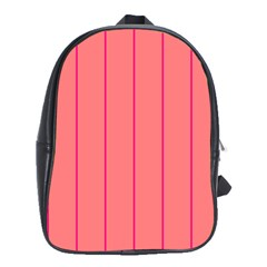 Background Image Vertical Lines And Stripes Seamless Tileable Deep Pink Salmon School Bags(large)