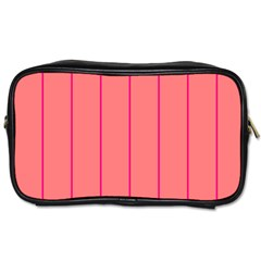 Background Image Vertical Lines And Stripes Seamless Tileable Deep Pink Salmon Toiletries Bags