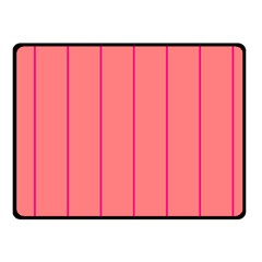 Background Image Vertical Lines And Stripes Seamless Tileable Deep Pink Salmon Fleece Blanket (small)