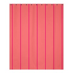 Background Image Vertical Lines And Stripes Seamless Tileable Deep Pink Salmon Shower Curtain 60  X 72  (medium)