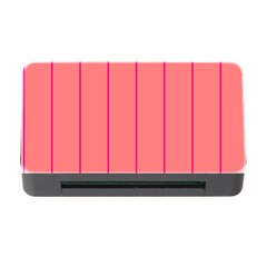 Background Image Vertical Lines And Stripes Seamless Tileable Deep Pink Salmon Memory Card Reader With Cf