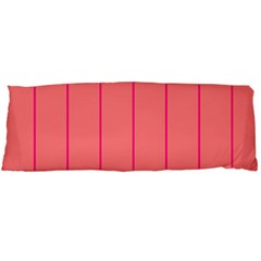 Background Image Vertical Lines And Stripes Seamless Tileable Deep Pink Salmon Body Pillow Case (dakimakura)