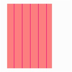 Background Image Vertical Lines And Stripes Seamless Tileable Deep Pink Salmon Small Garden Flag (two Sides)