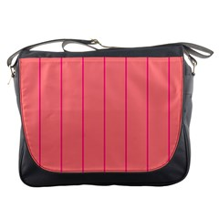Background Image Vertical Lines And Stripes Seamless Tileable Deep Pink Salmon Messenger Bags