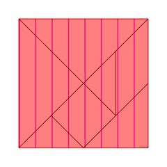 Background Image Vertical Lines And Stripes Seamless Tileable Deep Pink Salmon Acrylic Tangram Puzzle (6  X 6 )