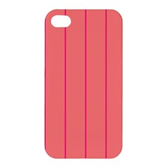 Background Image Vertical Lines And Stripes Seamless Tileable Deep Pink Salmon Apple Iphone 4/4s Premium Hardshell Case