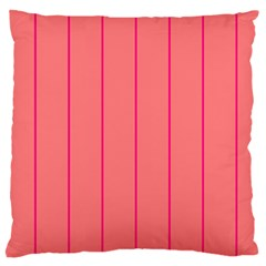 Background Image Vertical Lines And Stripes Seamless Tileable Deep Pink Salmon Large Cushion Case (two Sides)