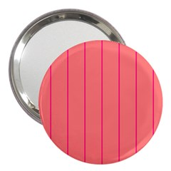 Background Image Vertical Lines And Stripes Seamless Tileable Deep Pink Salmon 3  Handbag Mirrors
