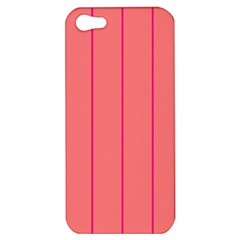 Background Image Vertical Lines And Stripes Seamless Tileable Deep Pink Salmon Apple Iphone 5 Hardshell Case