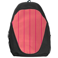Background Image Vertical Lines And Stripes Seamless Tileable Deep Pink Salmon Backpack Bag