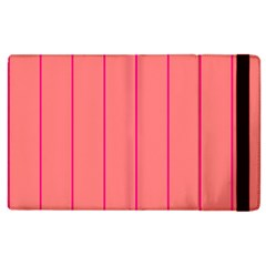 Background Image Vertical Lines And Stripes Seamless Tileable Deep Pink Salmon Apple Ipad 2 Flip Case