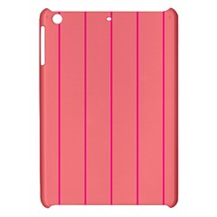 Background Image Vertical Lines And Stripes Seamless Tileable Deep Pink Salmon Apple Ipad Mini Hardshell Case