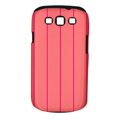 Background Image Vertical Lines And Stripes Seamless Tileable Deep Pink Salmon Samsung Galaxy S Iii Classic Hardshell Case (pc+silicone)