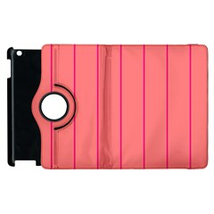 Background Image Vertical Lines And Stripes Seamless Tileable Deep Pink Salmon Apple Ipad 2 Flip 360 Case