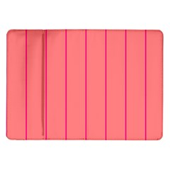 Background Image Vertical Lines And Stripes Seamless Tileable Deep Pink Salmon Samsung Galaxy Tab 10 1  P7500 Flip Case