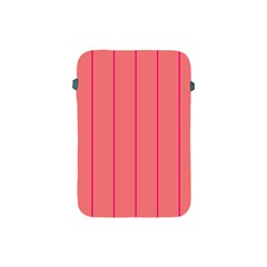 Background Image Vertical Lines And Stripes Seamless Tileable Deep Pink Salmon Apple Ipad Mini Protective Soft Cases