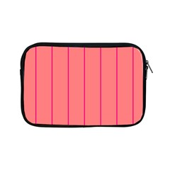 Background Image Vertical Lines And Stripes Seamless Tileable Deep Pink Salmon Apple Ipad Mini Zipper Cases