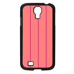 Background Image Vertical Lines And Stripes Seamless Tileable Deep Pink Salmon Samsung Galaxy S4 I9500/ I9505 Case (black)