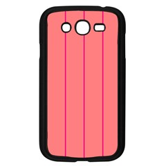 Background Image Vertical Lines And Stripes Seamless Tileable Deep Pink Salmon Samsung Galaxy Grand Duos I9082 Case (black)