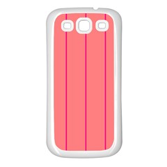 Background Image Vertical Lines And Stripes Seamless Tileable Deep Pink Salmon Samsung Galaxy S3 Back Case (white)