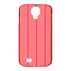 Background Image Vertical Lines And Stripes Seamless Tileable Deep Pink Salmon Samsung Galaxy S4 Classic Hardshell Case (pc+silicone)