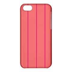 Background Image Vertical Lines And Stripes Seamless Tileable Deep Pink Salmon Apple Iphone 5c Hardshell Case