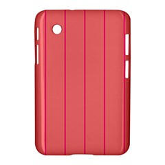 Background Image Vertical Lines And Stripes Seamless Tileable Deep Pink Salmon Samsung Galaxy Tab 2 (7 ) P3100 Hardshell Case