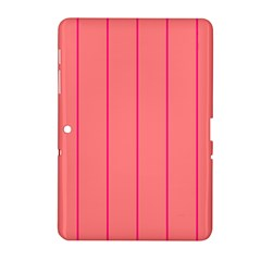 Background Image Vertical Lines And Stripes Seamless Tileable Deep Pink Salmon Samsung Galaxy Tab 2 (10 1 ) P5100 Hardshell Case
