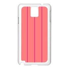 Background Image Vertical Lines And Stripes Seamless Tileable Deep Pink Salmon Samsung Galaxy Note 3 N9005 Case (white)