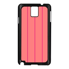 Background Image Vertical Lines And Stripes Seamless Tileable Deep Pink Salmon Samsung Galaxy Note 3 N9005 Case (black)